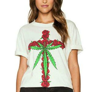 Unif Rose Cross T-shirt